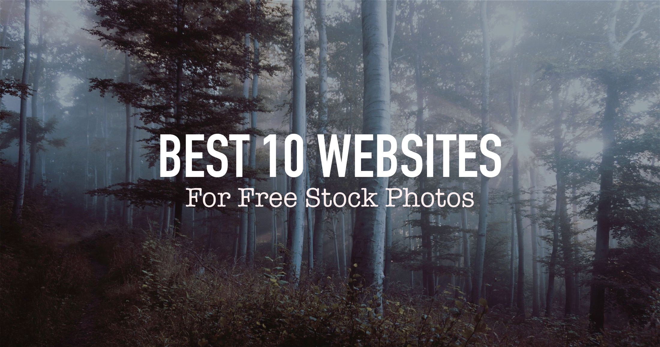 "Blog Header Image for ""Best 10 Websites For Free Stock Photos"""