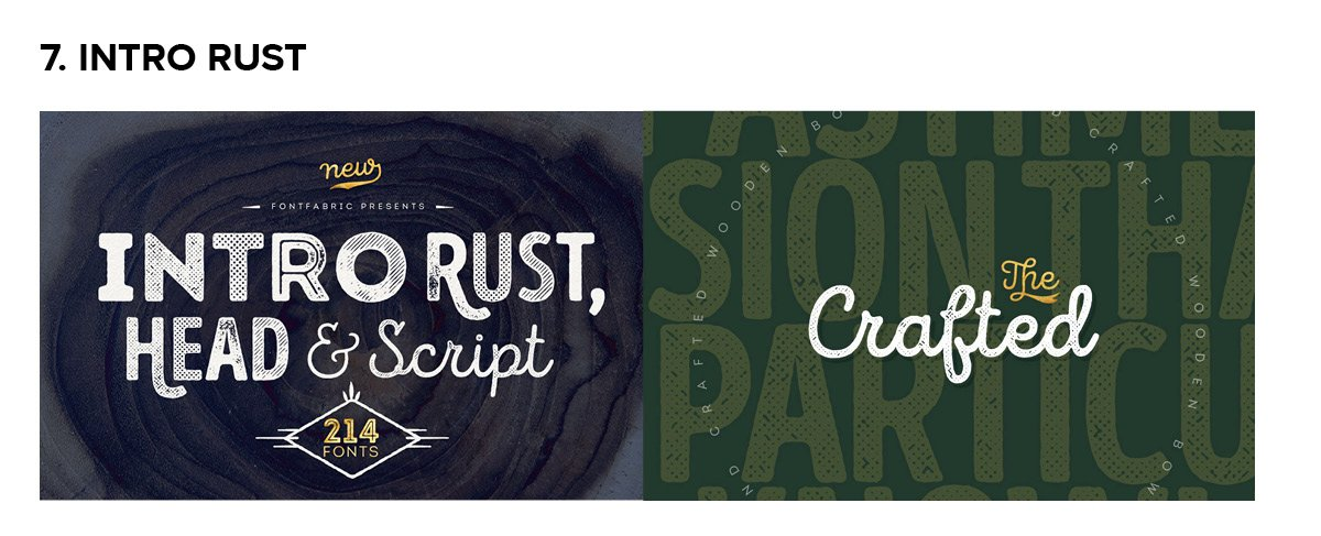 Intro Rust Font Example