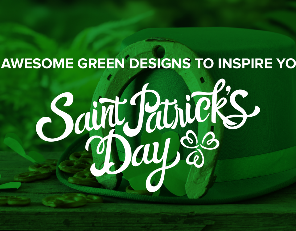 "Blog Header Image ""25 Awesome Green Designs to Inspire Your St. Patrick's Day"""