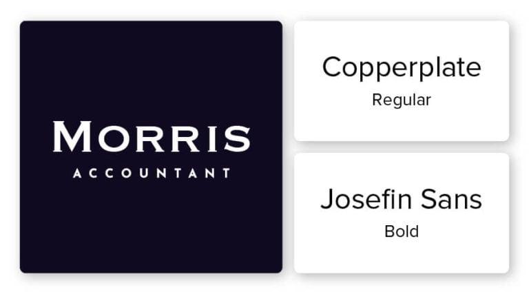 accountant logo font combination