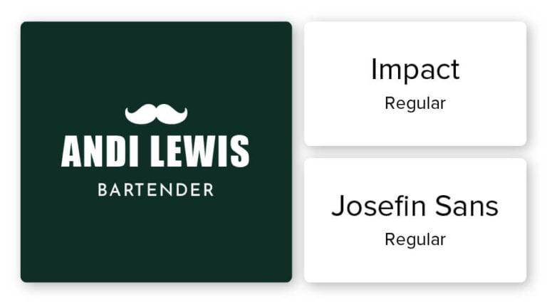 bartender logo font combination