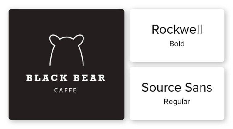 caffe logo font combination