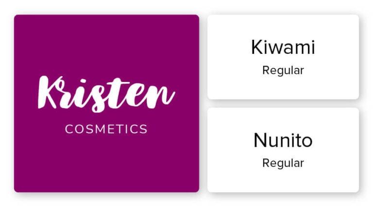 cosmetics logo font combination
