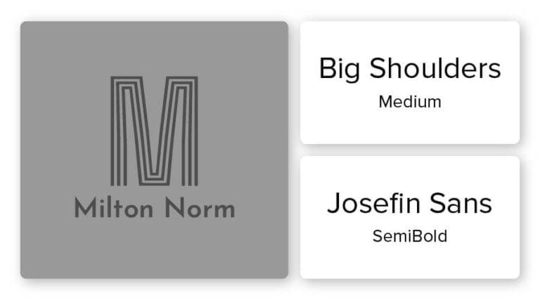 monogram logo font combination