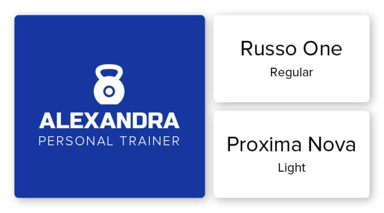 personal trainer logo font combination