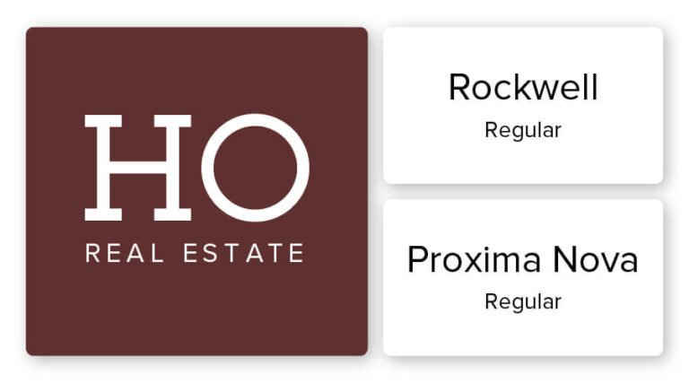 real estate logo font combination