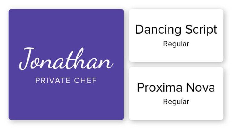 restaurants logo font combination