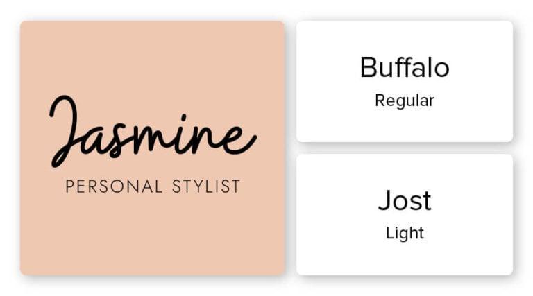 stylist logo font combination