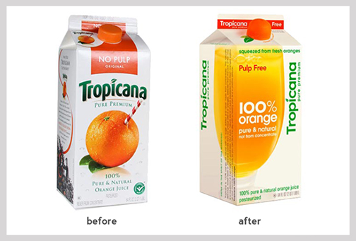 Packaging for Tropicana
