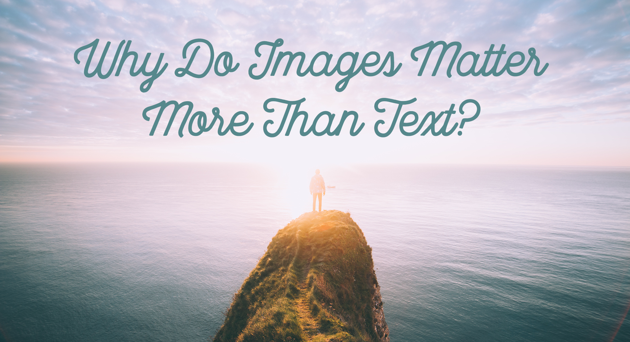 "Blog Header Image ""Not Using Images in Social Posts? You're Doing it Wrong."""