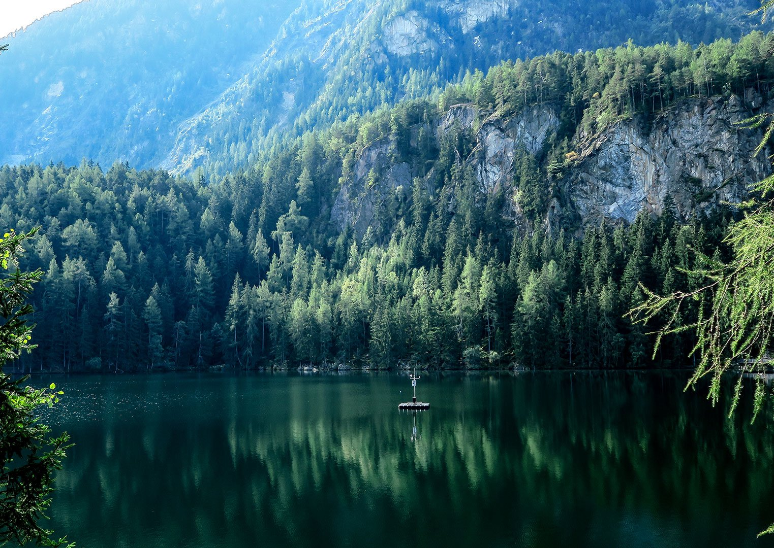 Stock Photo of a mountain and lake from Life of Pix