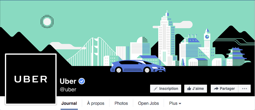 Facebook header image of company Uber