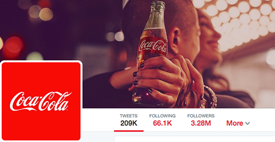 Profile and Social Image for Coca Cola's Twitter