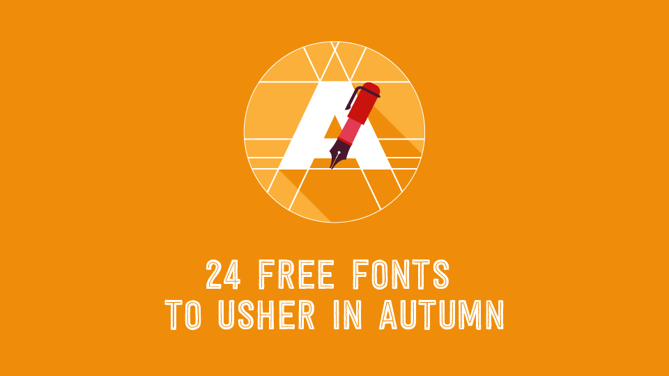 "Blog Header Image for ""Blog Header for 24 Free Fonts to Usher in Autumn"""