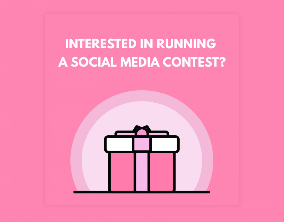 "Blog Header Image for ""Interesting in Running a Social Media Contest"""