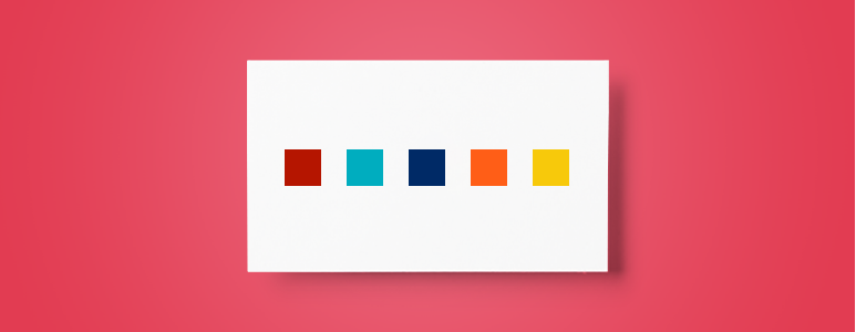 Colors on a business card