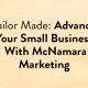 """Blog Header Image """"Tailor Made: Advance Your Small Business With McNamara Marketing"""""""