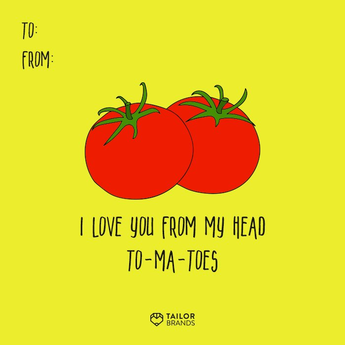 Tomatoes Valentine Card