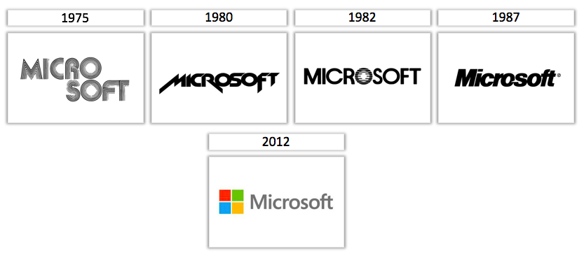 images of Microsoft logos