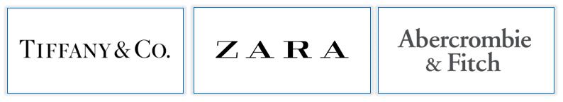 marques utilisant des polices serif