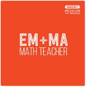 Em+Ma Logotipo do professor de matemática