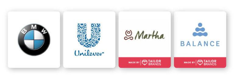 combination abstract logos