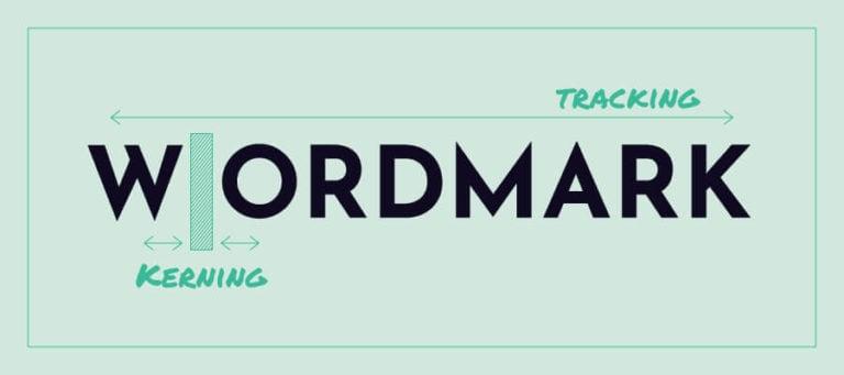 Kerning and tracking logos