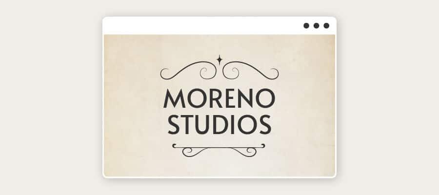 flourish vintage logo