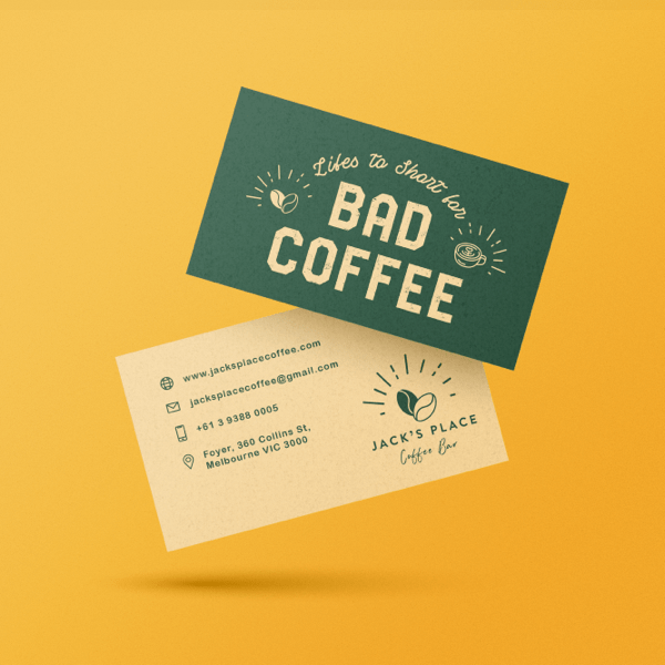 using transparent logos on business cards