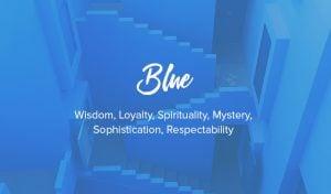 blaue Farbe bedeutet
