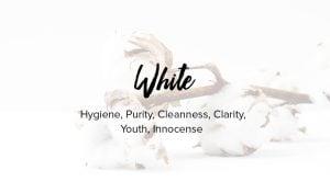 weiße Farbe bedeutet