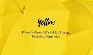 gelb Farbe bedeutet