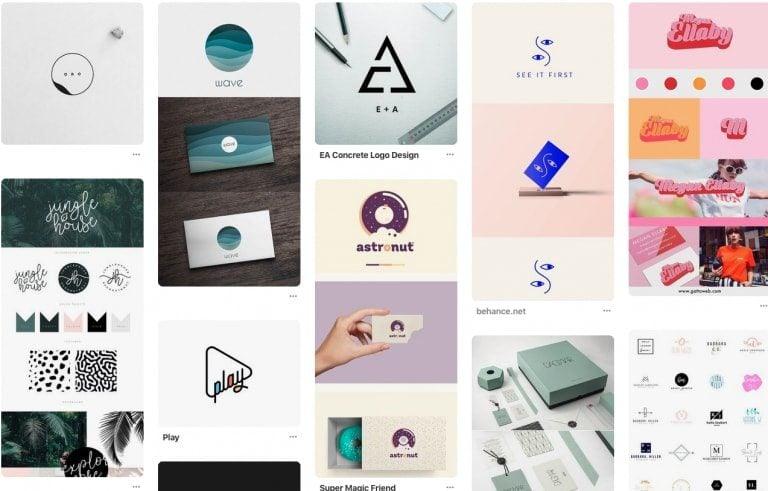 ejemplos de logotipos de pinterest