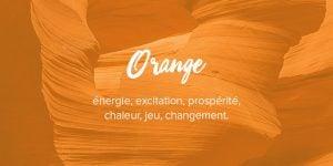 Signification de couleur orange