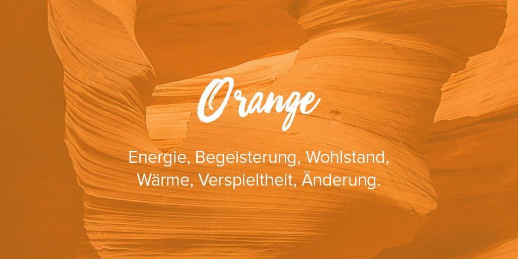 Orange Farbe bedeutung