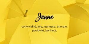 Signification de couleur jaune