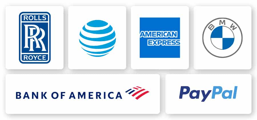 examples of blue logos