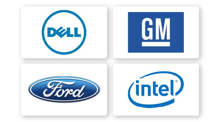 blue logos example