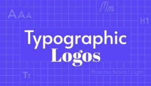 Typographic logos header