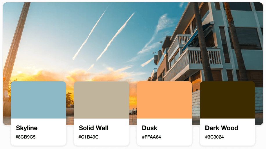 color palette for real estate logos