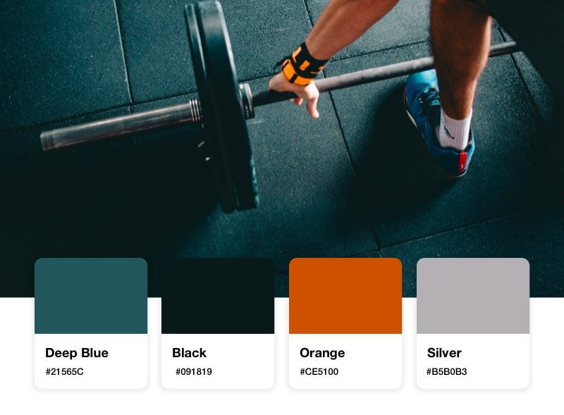 fitness logo color palette