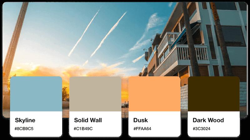 Real estate logos color palette