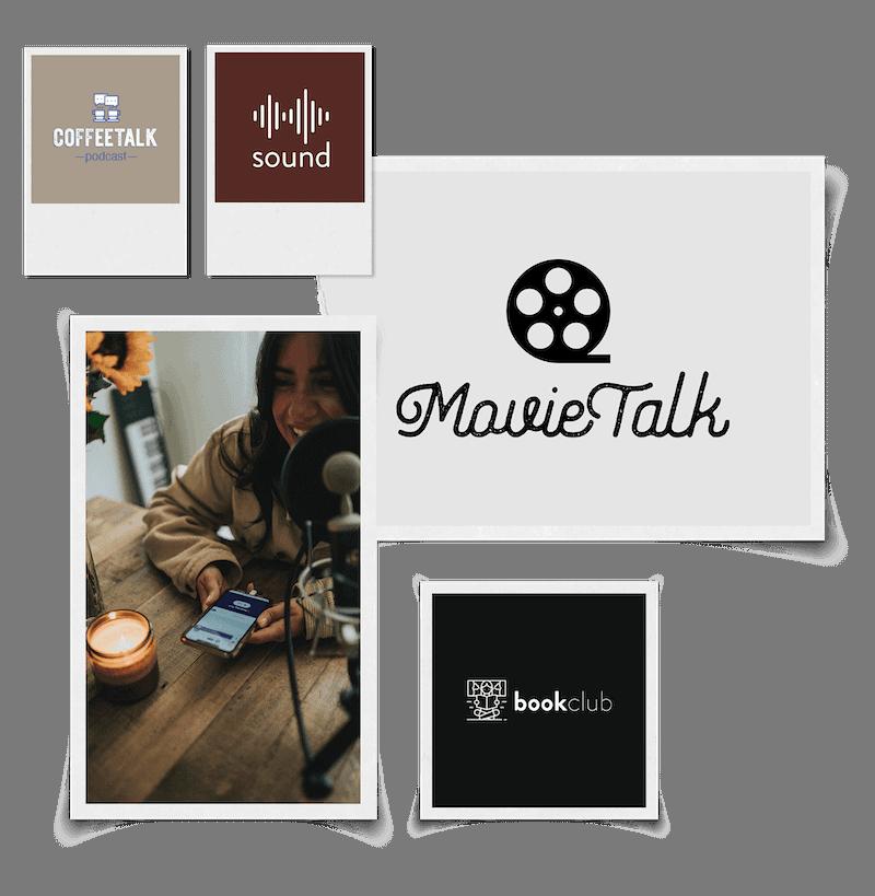 Podcast logo maker header