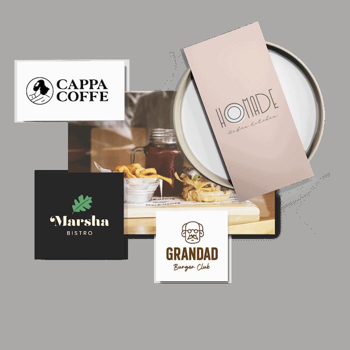 Restaurant logos header
