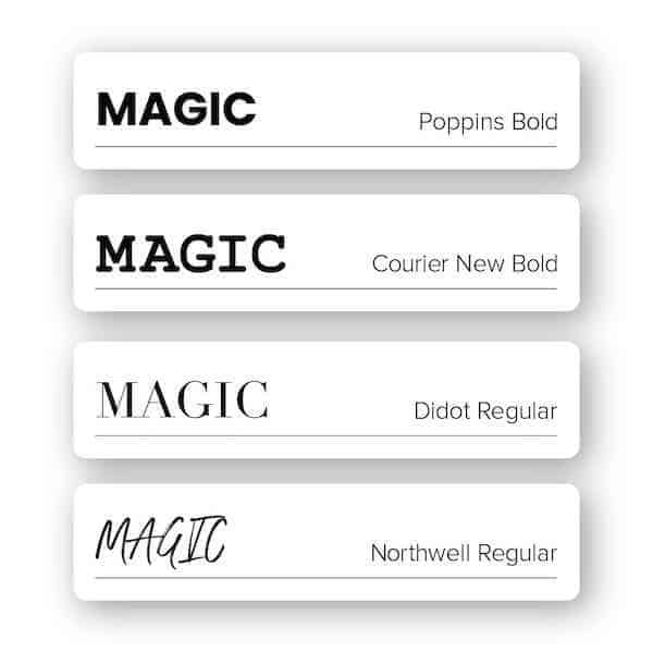 Fonts for jewelry logos