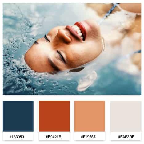 luxury beauty brand color palette