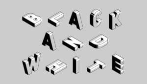Black and white logos header
