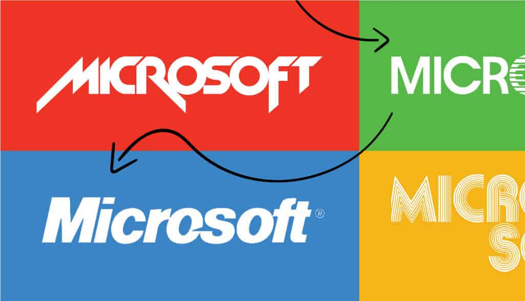 Microsoft logo evolution