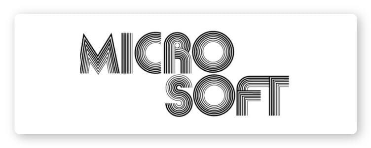 Microsoft first logo design