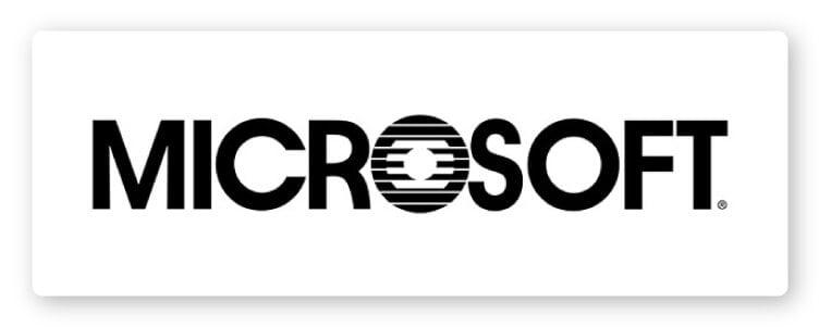 Microsoft third logo design